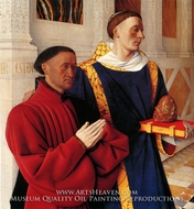 Estienne Chevalier with St. Stephen by Jean Fouquet