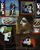 Etudes (Studies) painting reproduction, Pablo Picasso (inspired by)