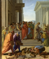 Eustache Le Sueur, Saint Paul Preaching at Ephesus painting reproduction, Eustache Le Sueur