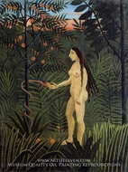 Eve and the Serpent painting reproduction, Henri Rousseau