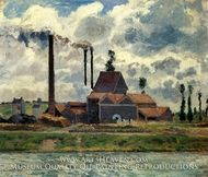 Factory Near Pontoise by Camille Pissarro