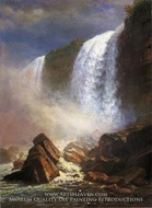 Falls of Niagara from Below by Albert Bierstadt