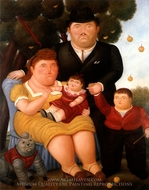 Familia painting reproduction, Fernando Botero