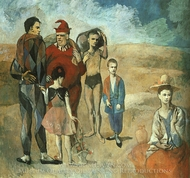 Family of Saltimbanques painting reproduction, Pablo Picasso (inspired by)