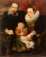 Family Portrait painting reproduction, Sir Anthony Van Dyck