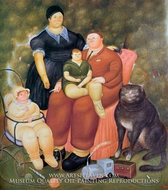 Family Scene painting reproduction, Fernando Botero