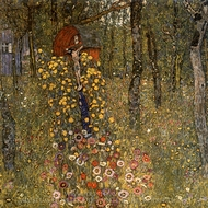 Farm Garden with Crucifix painting reproduction, Gustav Klimt
