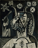 Faun with Stars by Pablo Picasso (inspired by)