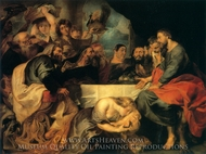 Feast at the House of Simon the Pharisee painting reproduction, Peter Paul Rubens