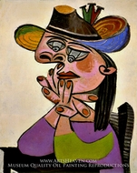 Femme Accoudee by Pablo Picasso (inspired by)