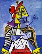 Femme Assise by Pablo Picasso (inspired by)