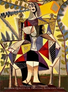 Femme Assise au Jardin by Pablo Picasso (inspired by)
