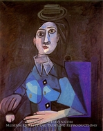 Femme Assise au Petit Chapeau Rond by Pablo Picasso (inspired by)