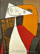 Femme Assise (Figure) by Pablo Picasso (inspired by)