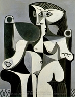 Femme Assise (Jacqueline) painting reproduction, Pablo Picasso (inspired by)
