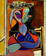 Femme au Chapeau painting reproduction, Pablo Picasso (inspired by)