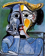 Femme au Chapeau Jaune (Jacqueline) by Pablo Picasso (inspired by)
