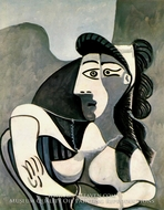 Femme dans un Fauteuil (Buste) by Pablo Picasso (inspired by)