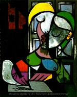 Femme Ecrivant painting reproduction, Pablo Picasso (inspired by)