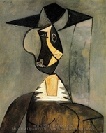 Femme en Gris painting reproduction, Pablo Picasso (inspired by)