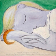 Femme Endormie painting reproduction, Pablo Picasso (inspired by)