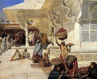 Festival at Fatehpur Sikri painting reproduction, Edwin Lord Weeks