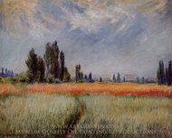 Field of Corn painting reproduction, Claude Monet