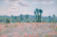 Field of Poppies painting reproduction, Claude Monet