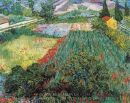 Field with Poppies painting reproduction, Vincent Van Gogh