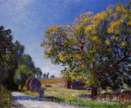 Fields around the Forest painting reproduction, Alfred Sisley