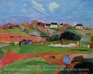 Fields at le Pouldu by Paul Gauguin