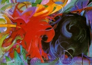 Fighting Forms painting reproduction, Franz Marc