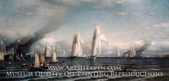 First International Race for America's Cup, August 8, 1870 by Samuel Colman