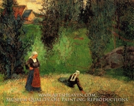 First Spring Flowers painting reproduction, Paul Gauguin