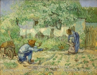 First Steps (after Millet) by Vincent Van Gogh