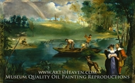 Fishing painting reproduction, Edouard Manet