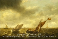 Fishing Boats in a Storm off the Dutch Coast painting reproduction, Jan Jacobsz Van Der Croos