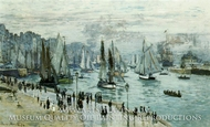 Fishing Boats Leaving the Port of Le Havre by Claude Monet