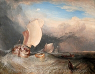 Fishing Boats with Hucksters Bargaining for Fish painting reproduction, Joseph Mallord William Turner