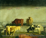 Five Cows painting reproduction, George Bellows