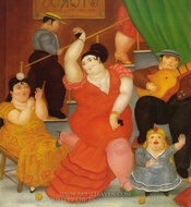 Flamenco painting reproduction, Fernando Botero