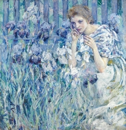Fleur de Lis painting reproduction, Robert Reid