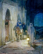 Flight Into Egypt painting reproduction, Henry Ossawa Tanner
