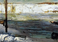 Floating Ice painting reproduction, George Bellows