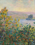 Flower Beds at Vetheuil painting reproduction, Claude Monet