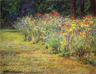 Flower Border painting reproduction, John Ottis Adams