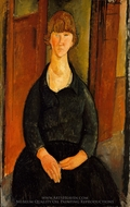 Flower Vendor painting reproduction, Amedeo Modigliani