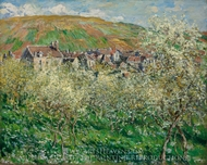 Flowering Plum Trees painting reproduction, Claude Monet