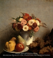 Flowers and Fruit by Henri Fantin-Latour
