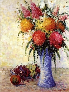 Flowers and Fruit painting reproduction, Lucie Cousturier